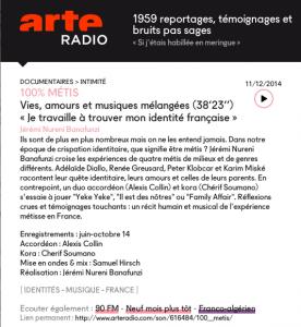 documentaire d'Arte Radio réalisé par Jérémi Nureini.